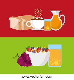 delicious and healthy breakfast icon
