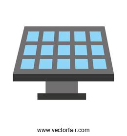 panel solar isolated icon