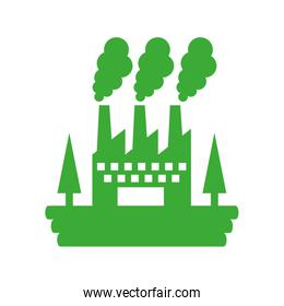 factory plant isolated icon