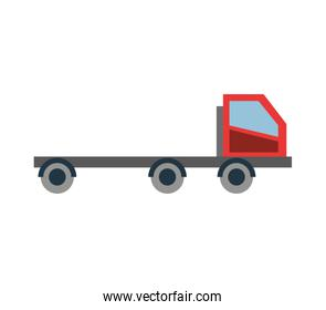Low bed truck icon