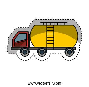 Tank car isolated icon
