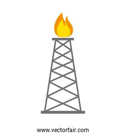 Refining plant tower isolated icon