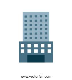 building silhouette isolated icon