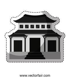 japanese building traditional icon