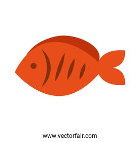 fish meat food isolated icon