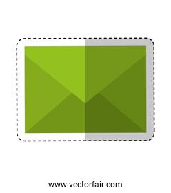envelope mail isolated icon