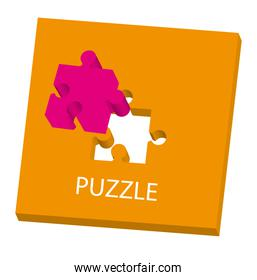 conceptual puzzle over white background vector illustration