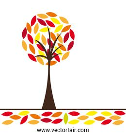 warm colors abstract tree vector illustration conceptual image