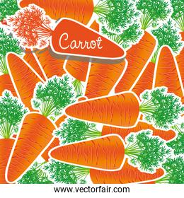 background of many carrots piled on each other