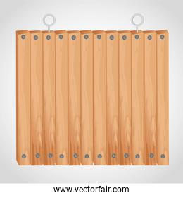 wooden square board with grommets for hanging