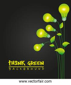ecological green bulbs plants representing