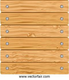 pattern of wooden boards with screws vector illustration