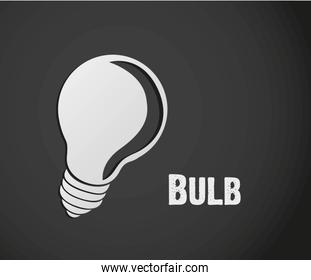 label design of bulb isolated on gray background vector illustra