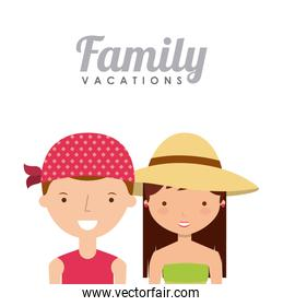 family on summer vacation design