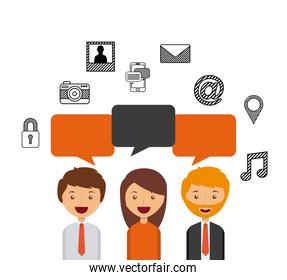 business person talking isolated icon design