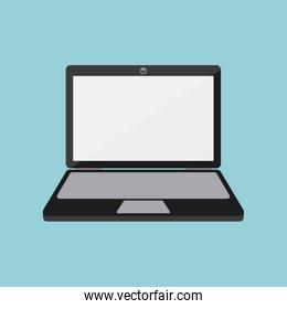 laptop computer isolated icon design