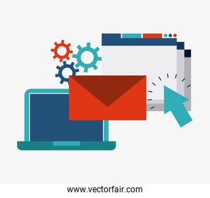 Internet media icon. Technology design. Vector graphic