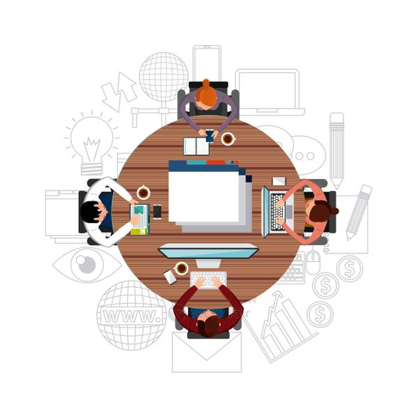 Cartoon and gadget icon. Blog concept. Vector graphic