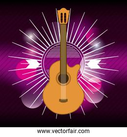 guitar icon. Music and Sound design. Vector graphic