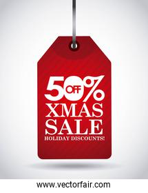 sale label icon. Merry Christmas design. Vector graphic