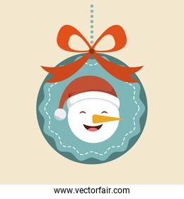 snowman icon. Merry Christmas design. Vector graphic
