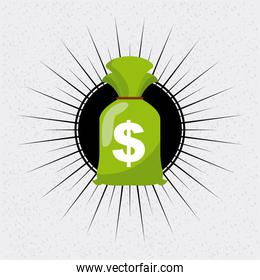 Money bag icon. Bank and Money design. Vector graphic