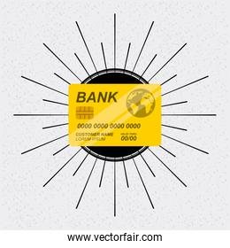 Credit card icon. Bank and Money design. Vector graphic