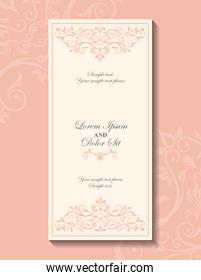 Card icon. Invitation and Save the date design. Vector graphic