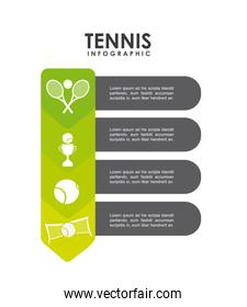 trophy ball and racket icon. Tennis design. Vector graphic