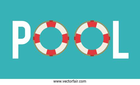 float icon. Swimming and pool party design. Vector graphic