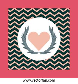 Wings and Heart shape icon. Love design. Vector graphic