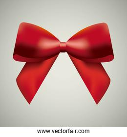 Red bowtie icon. Ribbon design. Vector graphic