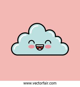 cloud kawaii icon design