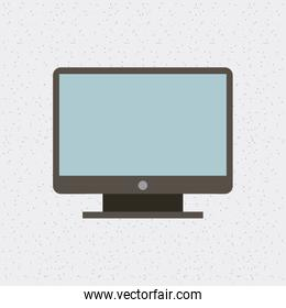 computer monitor isolated icon