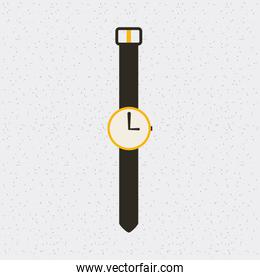 watch time clock hand isolated icon