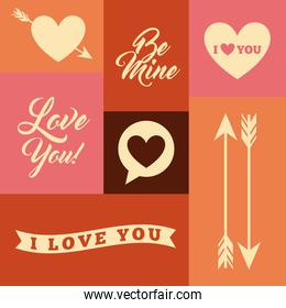 love romantic card isolated