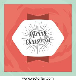 happy merry christmas card icon