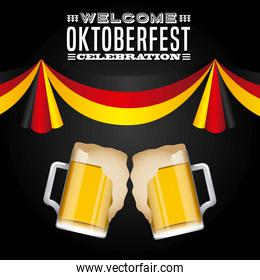 welcome oktoberfest poster icon