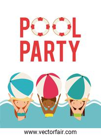 pool party enjoy icon