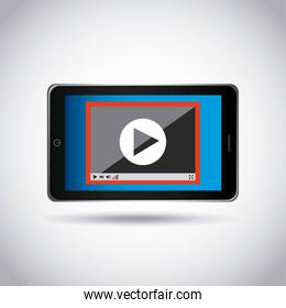 tablet technology device icon