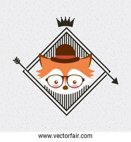 hipster style classic emblem