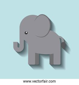 tender cute elephant card icon