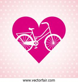 love my bicycle lifestyle concept icon