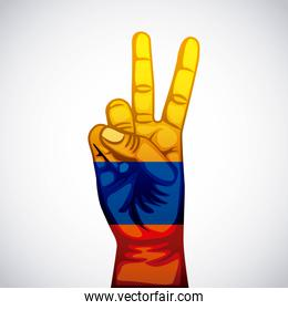 colombian peace hands symbol