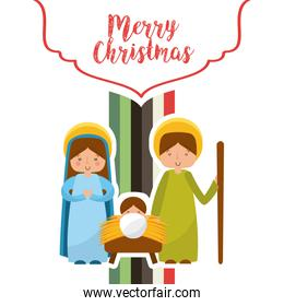 cute family manger characters christmas