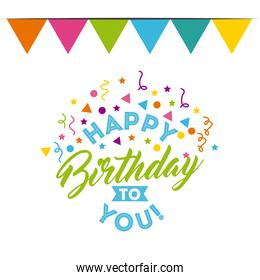 happy birthday to you celebration poster