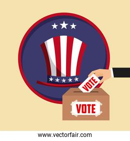 US presidential voting concept