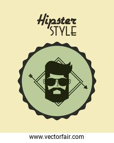 retro hipster style element icon