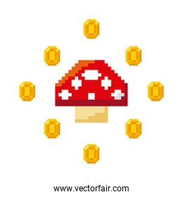 pixelated video game icons