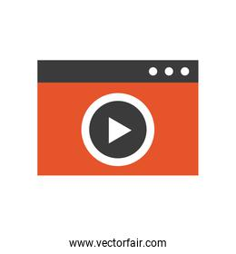 video marketing flat line icons